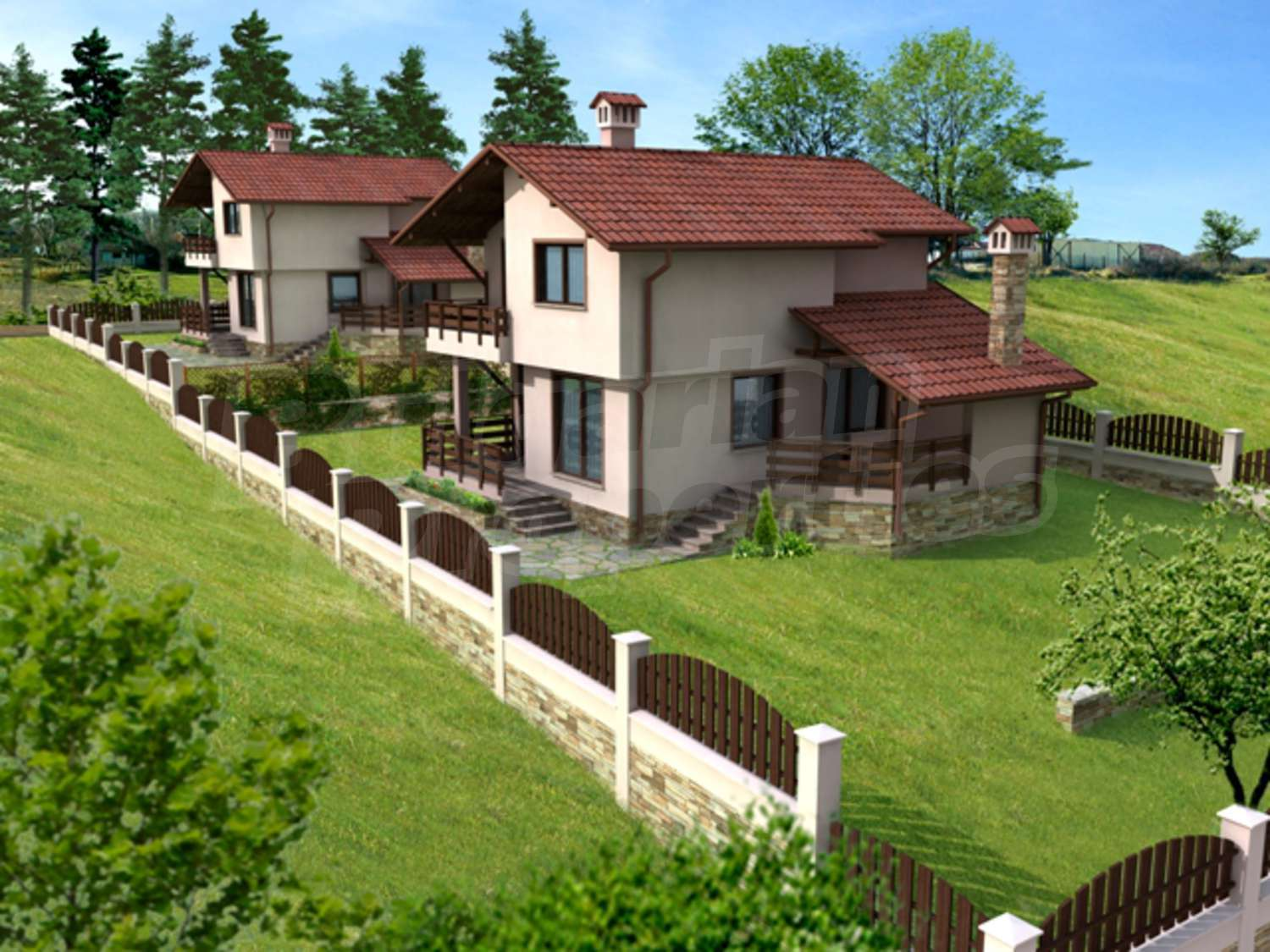 House for sale near byala varna byala bulgaria two for Big nice houses for sale