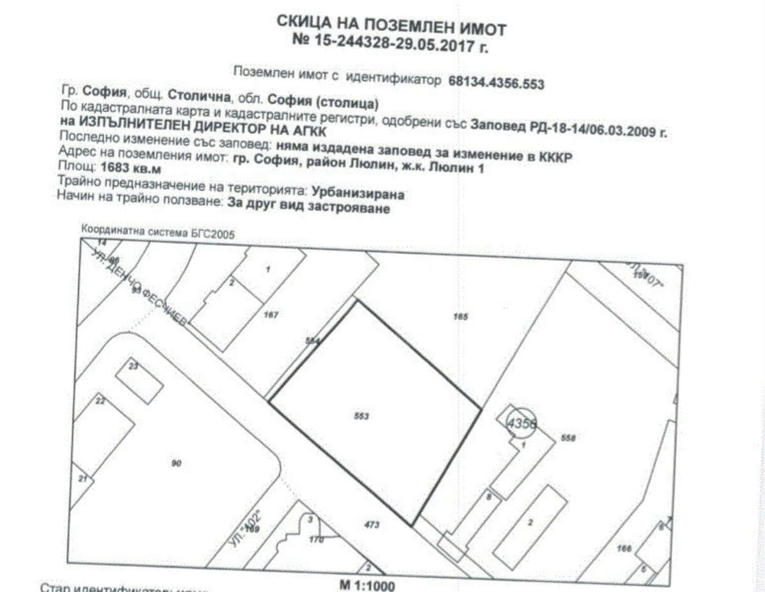 Investment Land For Sale In Sofia Quarterlyulin 1 109 Bulgaria