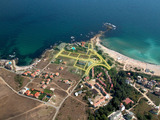 Investment land with excellent sea views, 50 m from two beach zones