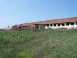 Livestock farm with big yard near the town of Kula