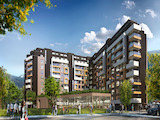 Modern residential complex with garages and shops in Mladost 4
