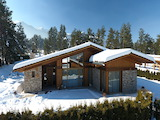 Newly-built houses near the golf courses and Bansko ski resort