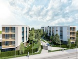New residential complex with a large landscaped area and park, Burgas city