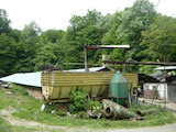 Working cattle farm with equipment in Gabrovo Balkan